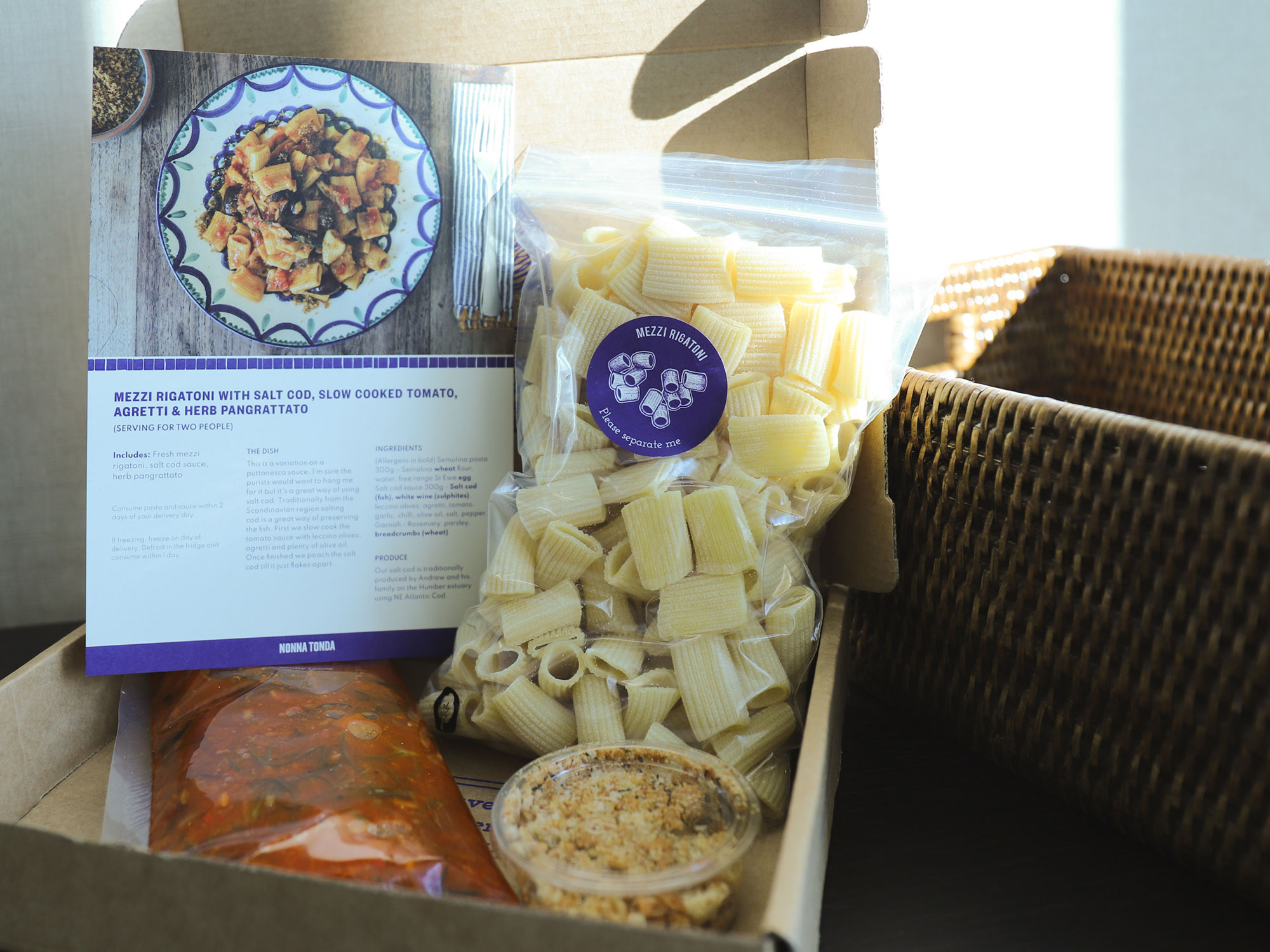 Nonna Tonda 英國義大利麵當日現作材料包外送