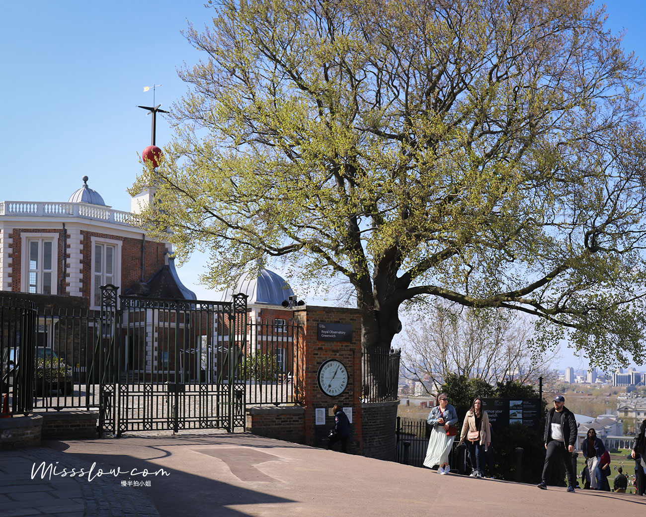 格林威治皇家天文台-紅色圓球(在照片內的左上角)