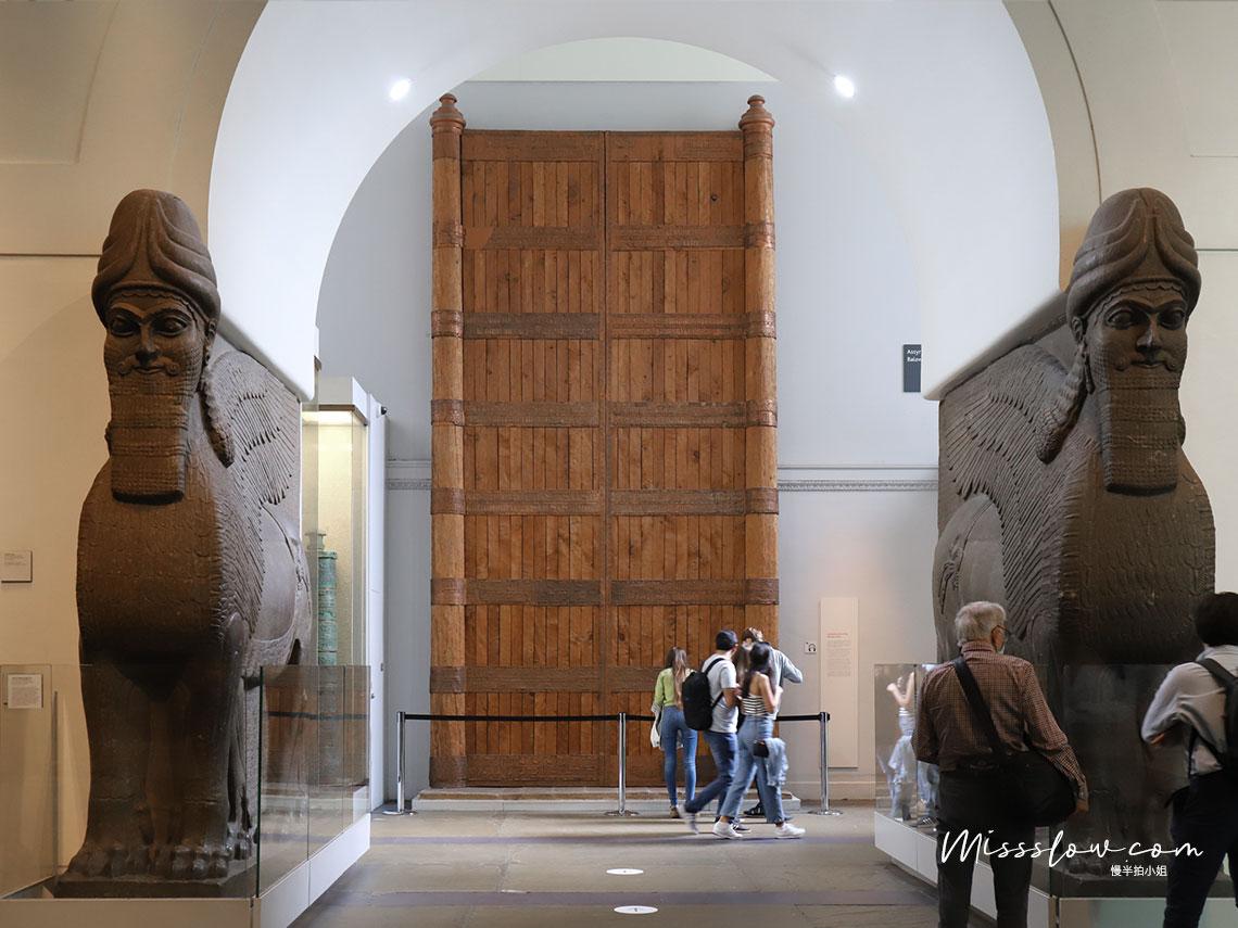 大英博物館-亞述王國的鷹獅人像
