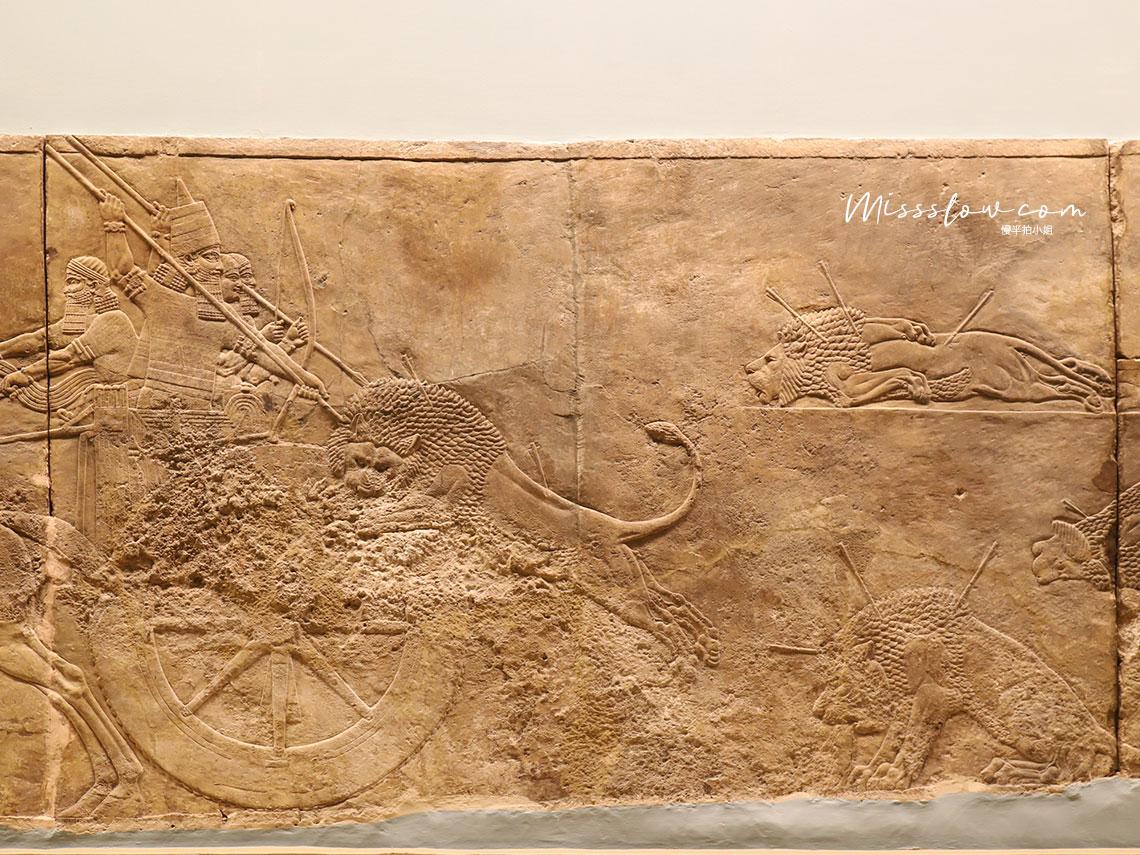 大英博物館-亞述人獵獅子